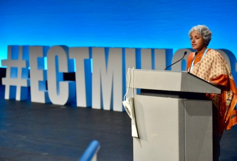 Dr Soumya Swaminathan, WHO's Chief Scientist speaking at ECTMIH 2019