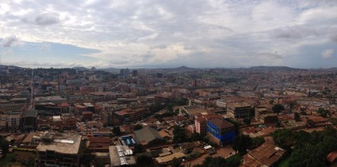 Kampala, capital city of Uganda.